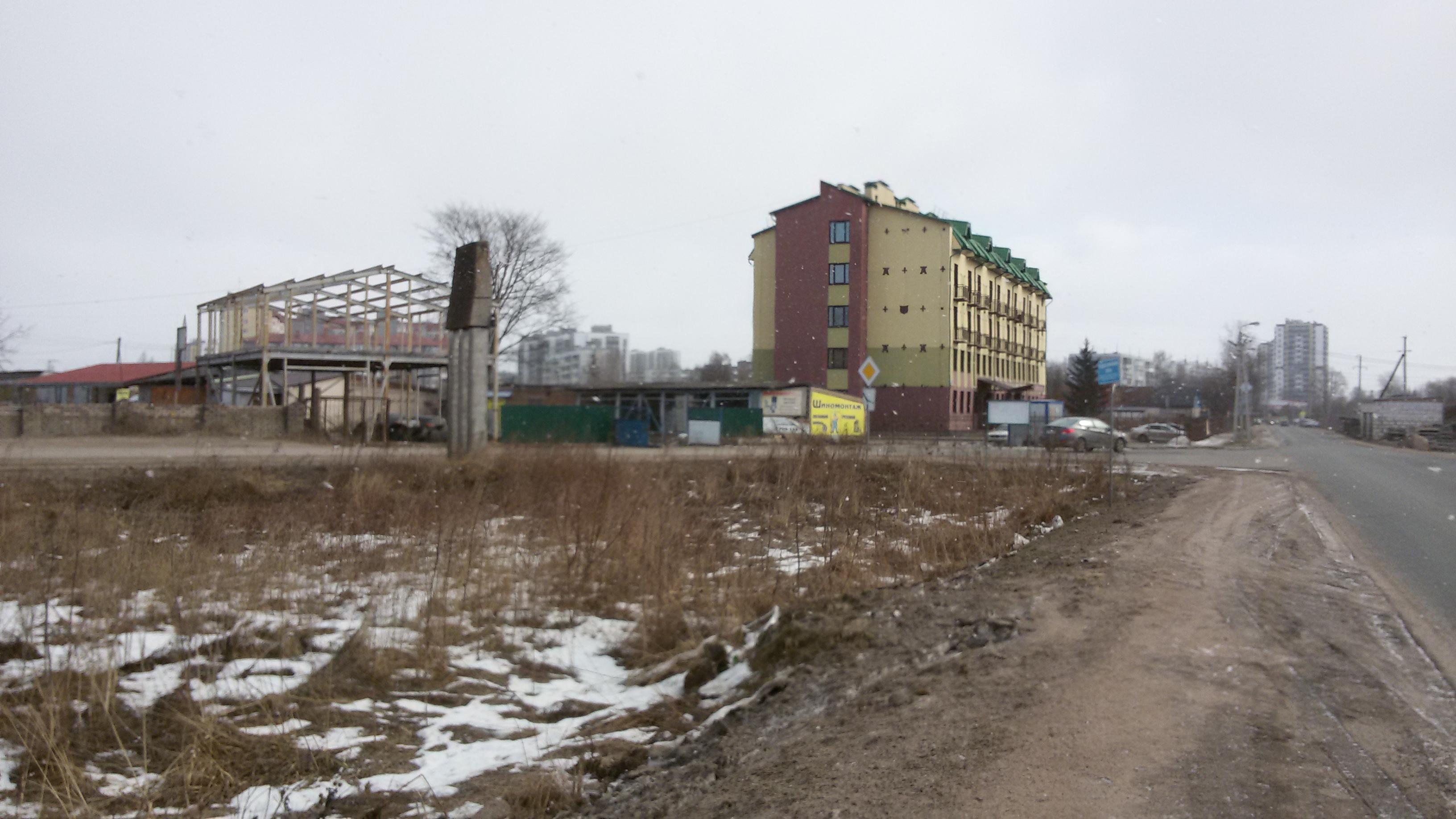 продается земельный участок в г. пскове, на пересечении ул. ижорского батальона и ...