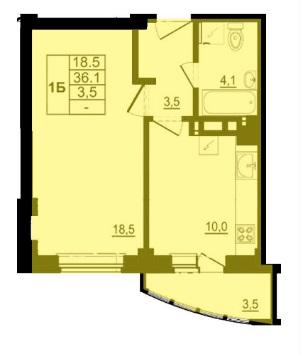 Однокомнатная квартира - ул. Балтийская, д. 16а,кв 135