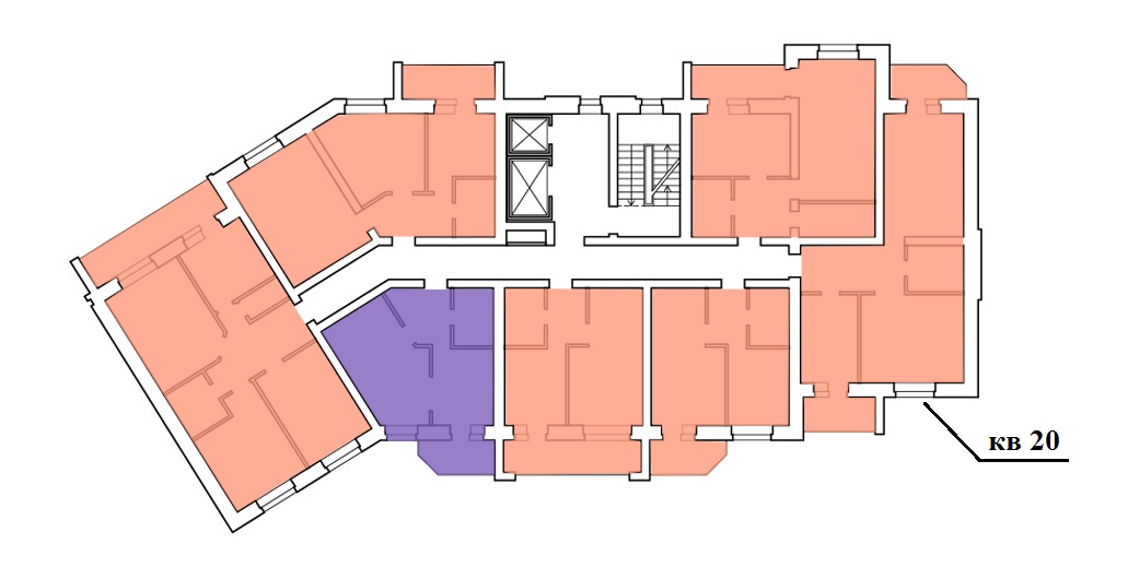 Двухкомнатная квартира, ул. Юбилейная, д. 41а, кв. 20