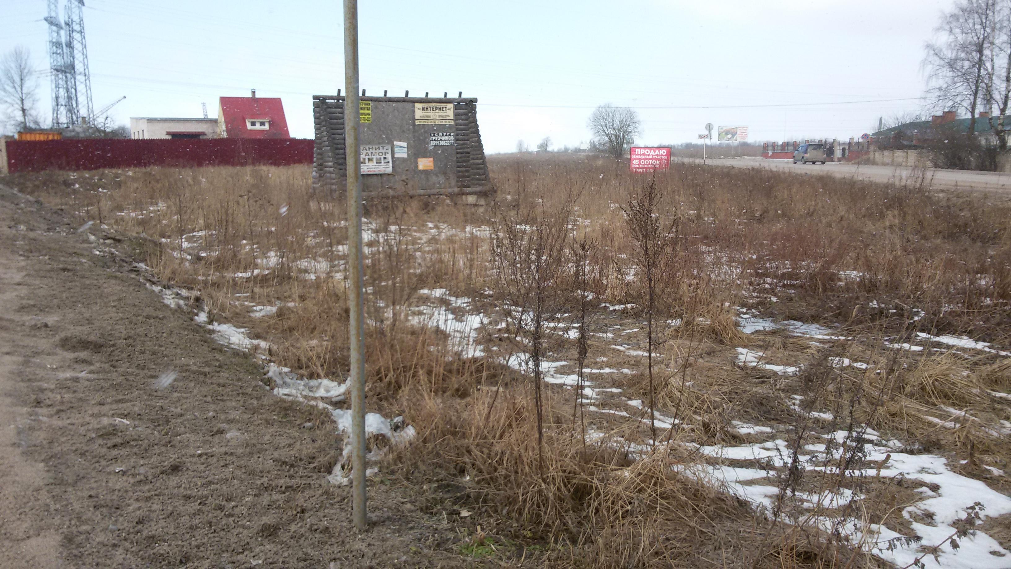 Земельный участок 15 соток на пересечении ул. Ижорского батальона и дороги в д. Хотицы