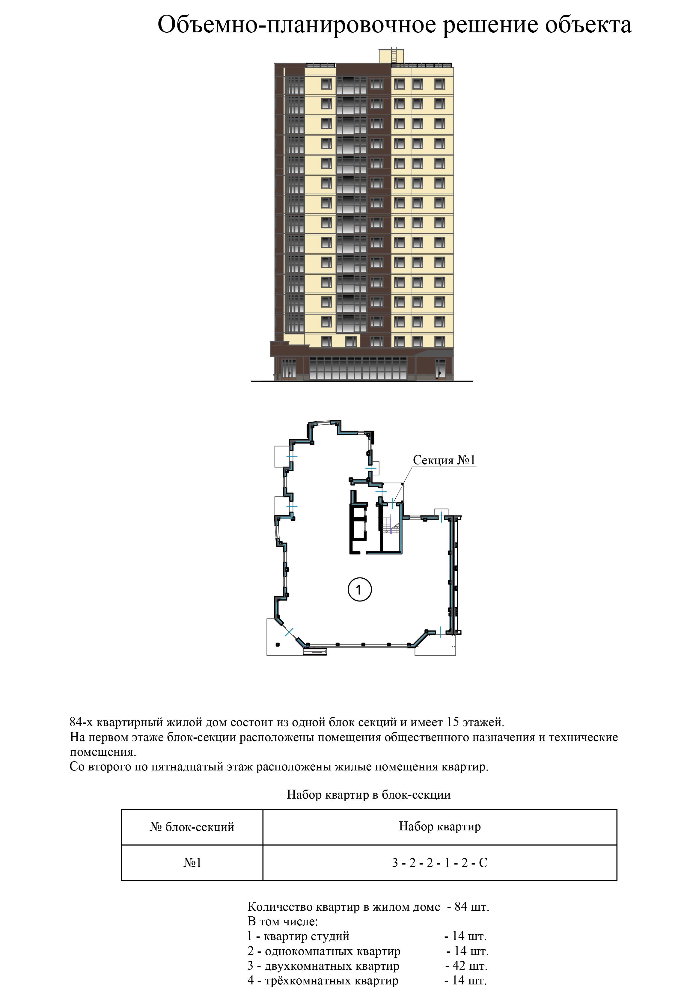 Двухкомнатная квартира - ул.Балтийская, д. 1а, кв. 9, 15, 21, 27, 33, 39