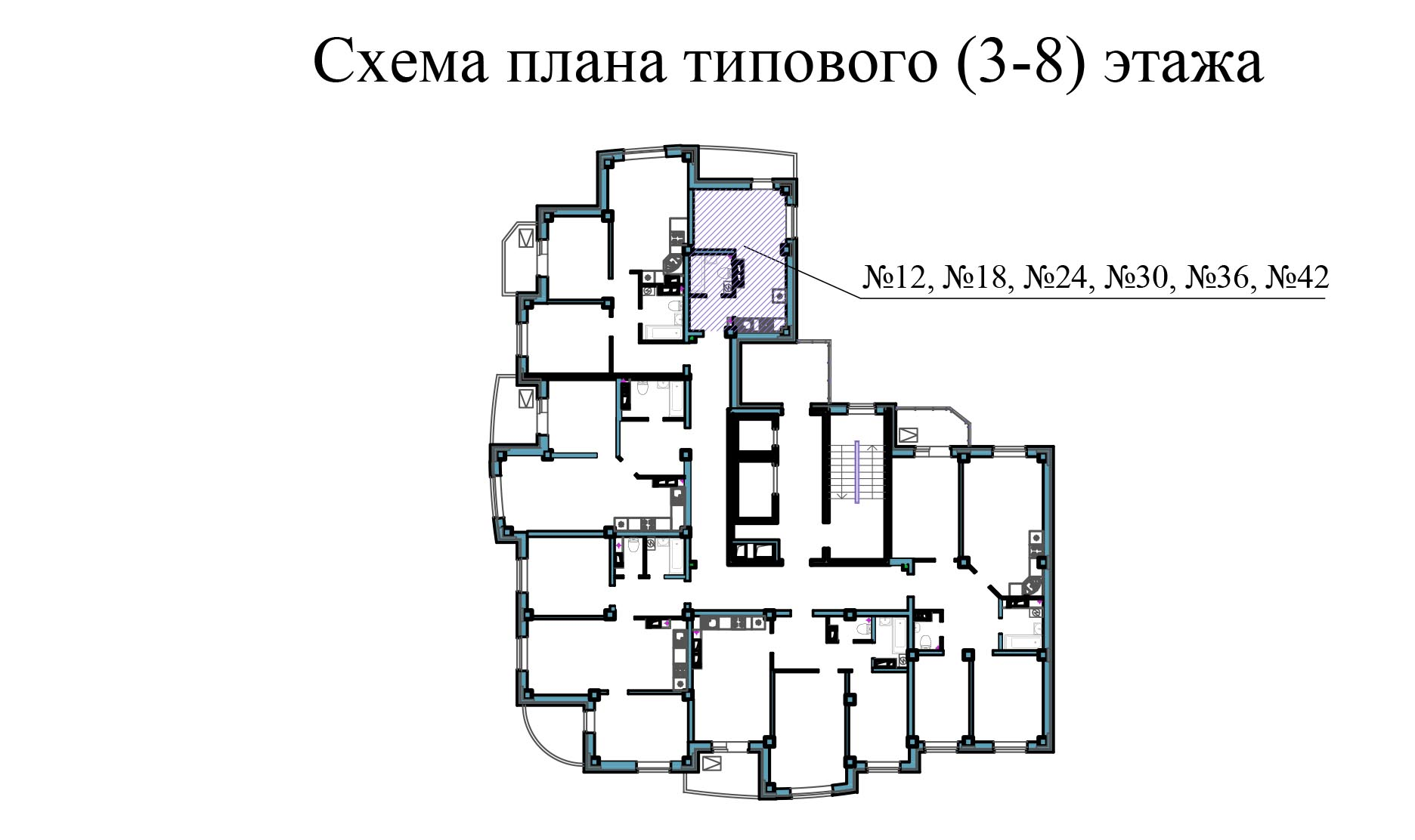 Студия - ул.Балтийская, д. 1а, кв. 12, 18, 24, 30, 36, 42