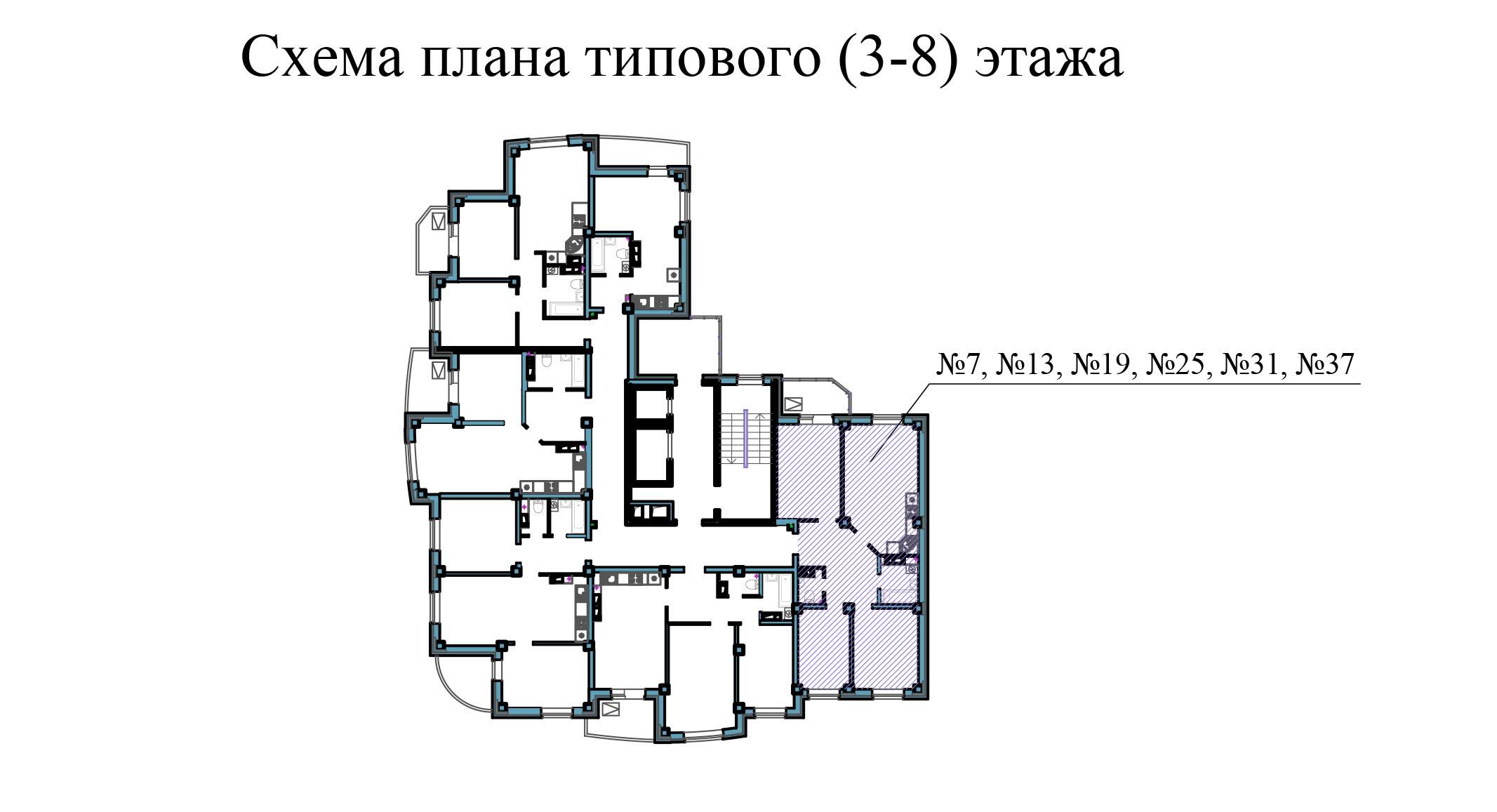 Трехкомнатная квартира - ул.Балтийская, д. 1а, кв. 13,19,31,37