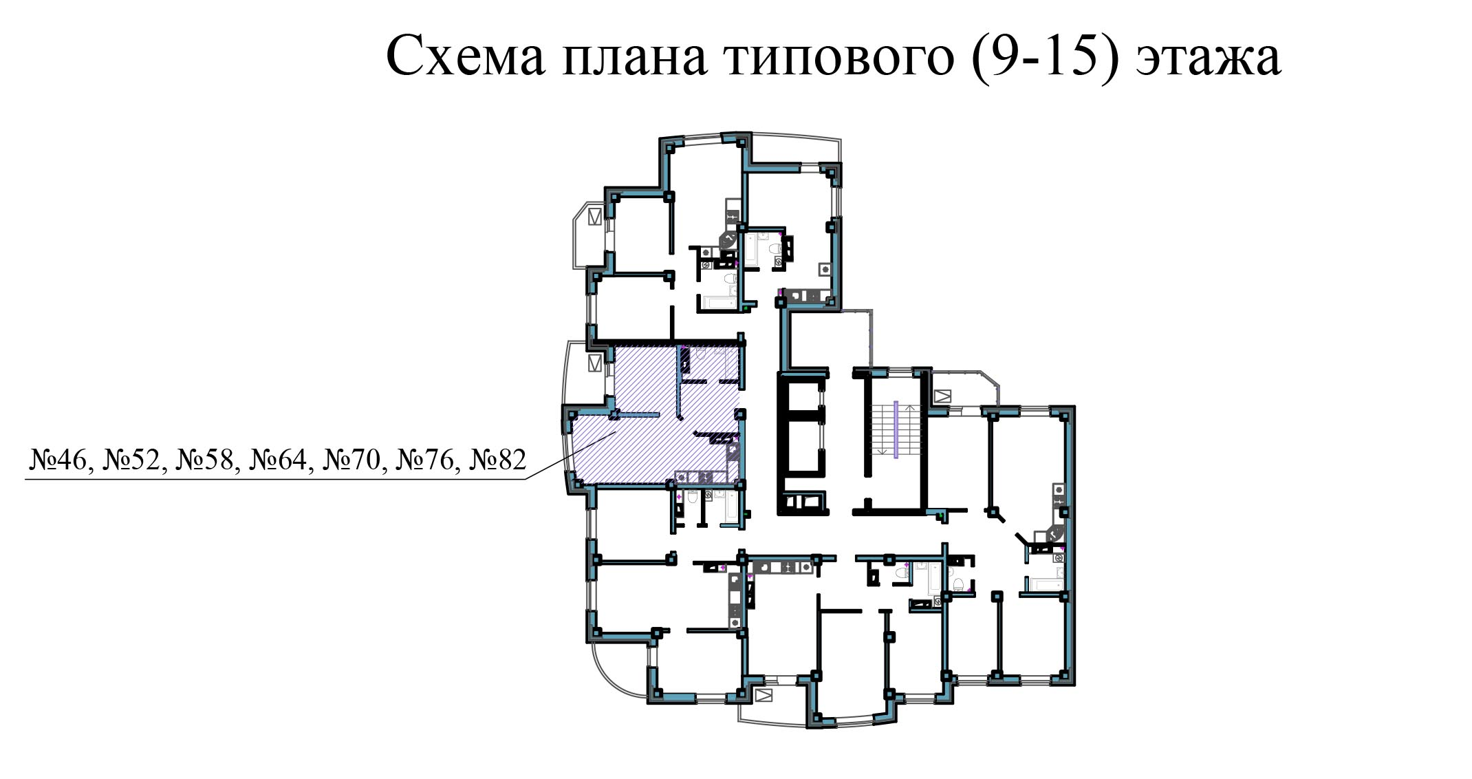Однокомнатная квартира - ул.Балтийская, д. 1а, кв. 46,52, 58, 64, 70, 76, 82