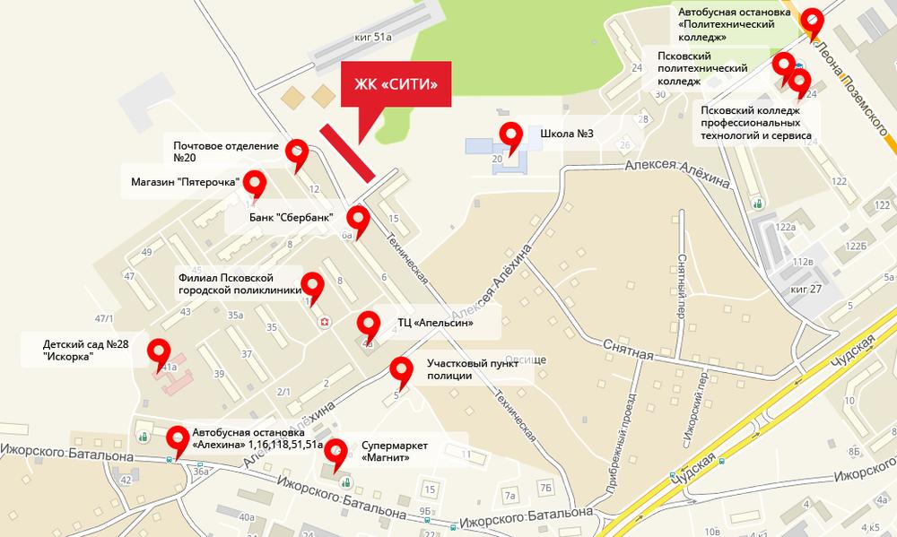 Двухкомнатная квартира -  ул Техническая, д. 17 , кв. 7