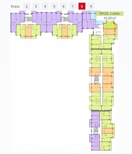 Однокомнатная квартира, Пражская, д. 1, кв. 125