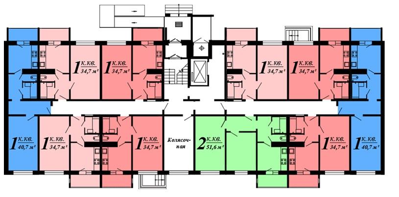 Однокомнатная квартира - ул. Крестки, д. 7, кв. 3
