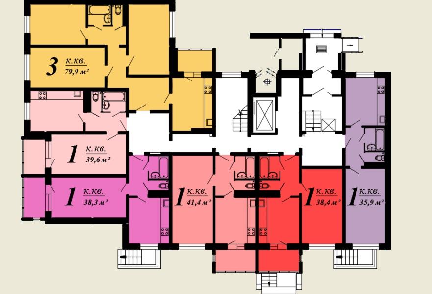 Однокомнатная квартира -  ул.Балтийская, д. 1 б, кв. 85